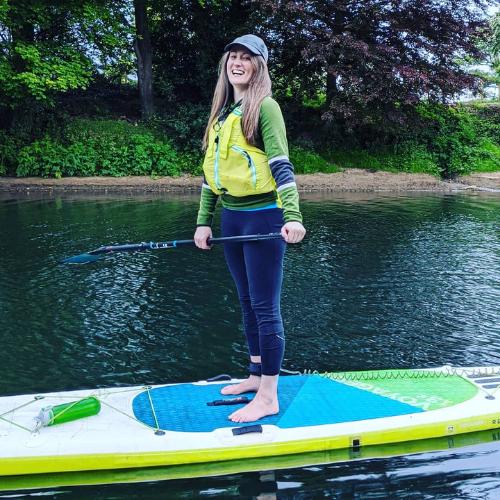 Fiona Quinn paddleboarding